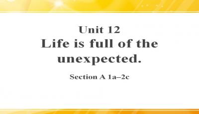 Life is full of unexpected主要课件PPT